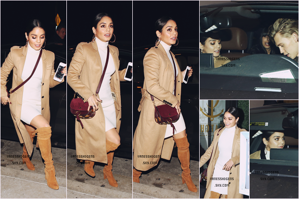27/12/16 : La belle Vanessa était avec Austin au restaurant Catch, West Hollywood.  J'adore sa tenue, son manteau et ses bottes sont superbe, son maquillage est magnifique, elle est trop trop belle, un beau top.