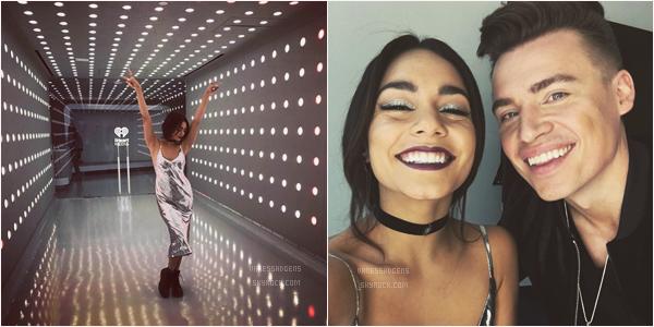"""- 09/05/17 : Notre Vaness continues la promo de """"Reminding Me"""" dans les studios de """"Music Choice"""" (NY). Elle y avec Shawn Hook, j'aime bien la robe mais sans plus et pas les bottes. Elle était ensuite dans les studios d'iHeartRadio. -"""