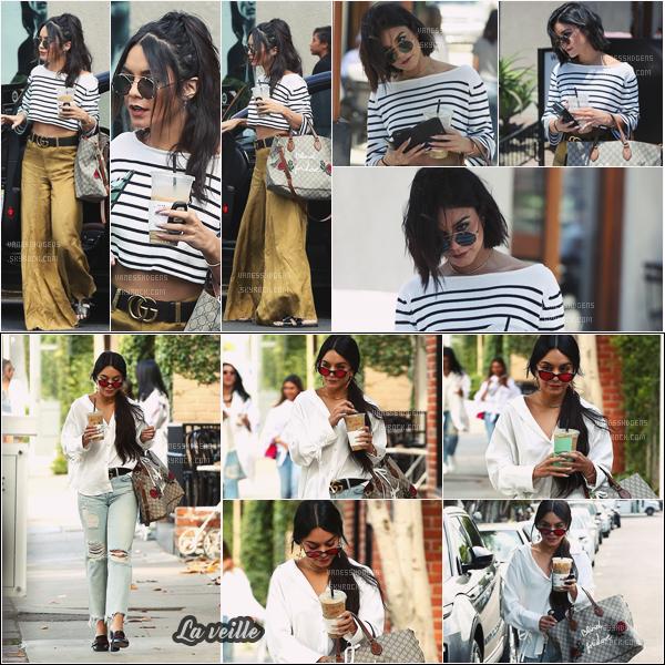 """- 16/05/17 : Notre Vanessa H, radieuse, était au salon de coiffure """"901"""" dans la belle ville de Beverly Hills (CA). La veille, elle a été vue à """"Alfred Coffee & Kitchen, WH. Deux beaux tops pour les tenues, j'aime beaucoup le pantalon jaune. -"""