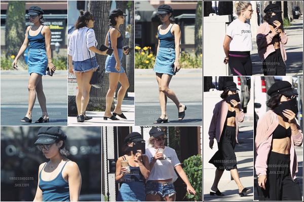 """- 24/05/17 : Vanessa Hudgens est allée manger au restaurant """"Kawami"""", Studio City (LA). Plus tôt dans la journée, elle est allée à sa séance de sport à Wundabar Pilates. Je lui donne deux gros flops niveau tenue. -"""