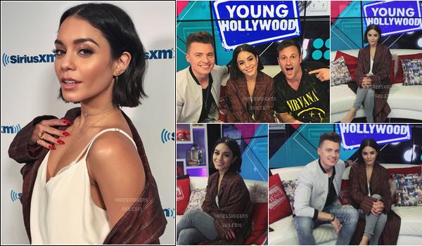 """- 07/06/17 : Vanessa s'est rendue dans les studios de """"SiriusXM"""" et à l'émission Young Hollywood, LA (CA). La tenue est super jolie, j'aime beaucoup la veste encore une fois, beau top pour Vanessa, elle est trop belle, et ses ongles **. -"""