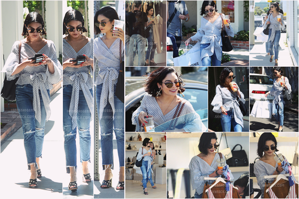 """- 12/06/17 : Vaness, a fait une multitude de choses, elle était à la clinique Kate Somerville, Studio City (LA). Elle est aussi aller faire du shopping à """"Lagence"""" et à """"Rebecca Minkoff"""" à Melrose Place. Beau top! -"""