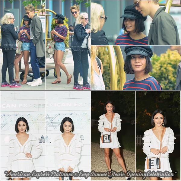 - 23/06/17 : Vanessa Hudgens était avec son chéri Austin, ils se promenait dans les rues d'East Village (NY). J'aime assez sa tenue, malgré son éternel chapeau qu'elle ne quitte plus, le soir, sa tenue était jolie aussi. -