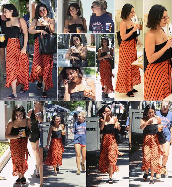 - 27/06/17 : Vaness est aller à AlfredC&K puis a fait du shopping à L'Agence et Chloé, Melrose Place (LA). J'aime beaucoup sa tenue, sa robe orange est super belle ! Gros top, à part les claquettes, j'aime pas mais elle en porte souvent. -