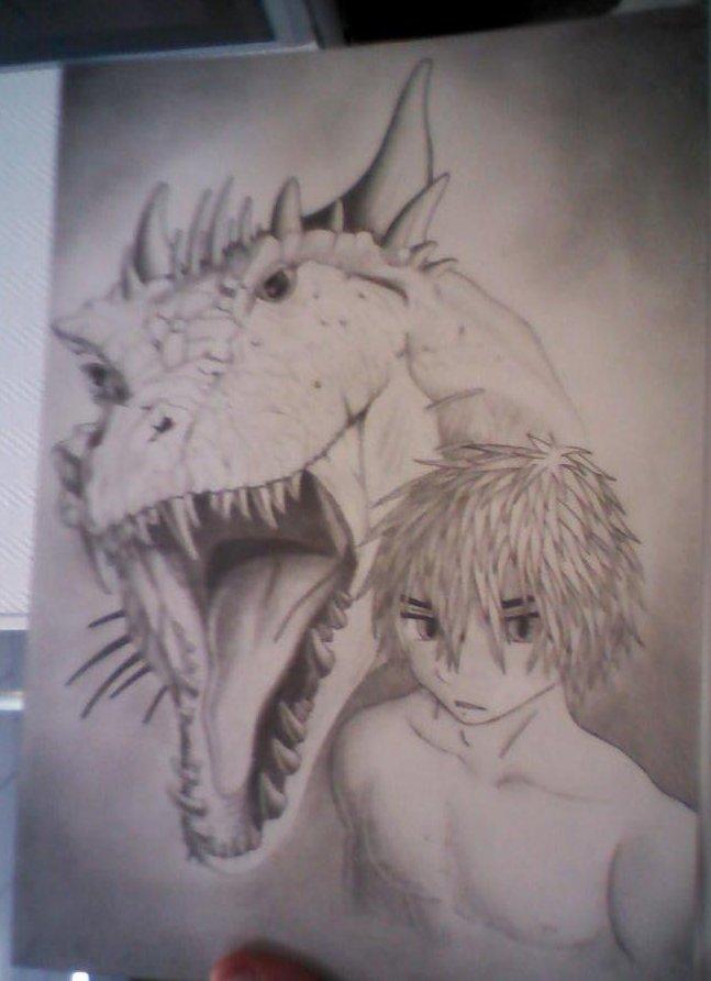 dragon et homme mysterieux