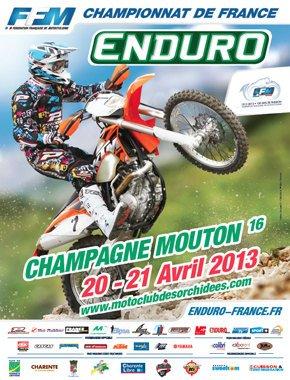 PROCHAIN RDV : OUVERTURE CHAMPIONNAT DE FRANCE D'ENDURO, LE 20 et 21 AVRIL, A CHAMPAGNE MOUTON (16)