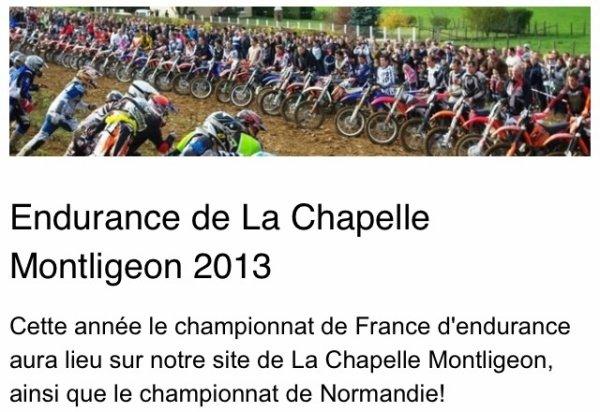 RDV : 22 SEPTEMBRE, COUPE DE FRANCE DES RÉGIONS D'ENDURANCE TT À LA CHAPELLE MONTLIGEON