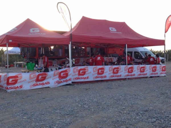 LES TEAMS DU MERZOUGA RALLY : GASGAS