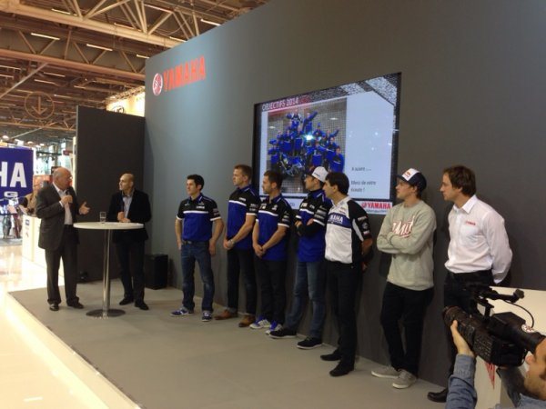 PRÉSENTATION TEAM DAKAR 2014 YAMAHA FACTORY RACING - SALON DE LA MOTO À PARIS