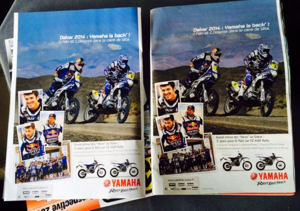 PRESS! MOTO REVUE / MOTO JOURNAL ...MERCI YAMAHA!