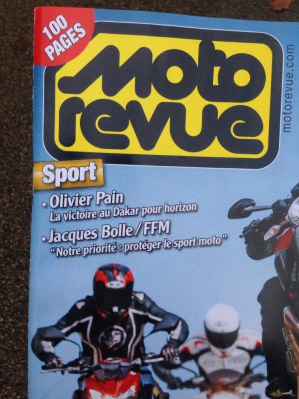 ON EN PARLE... MOTO REVENUE SORTI AUJOURD'HUI. MERCI.