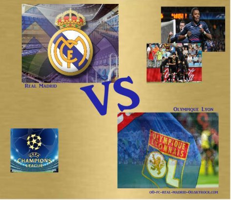 Real Madrid- Olympique Lyon. Ligue des champions