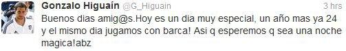Un bon anniversaire à Gonzalo Gerardo Higuain! 24 ans. Le 10 décembre.