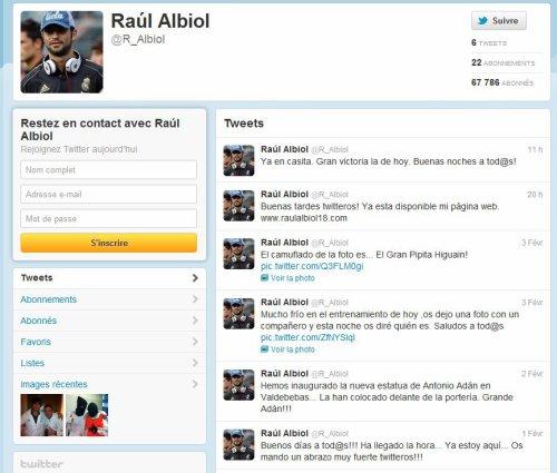 ¤ Raul Albiol sur Twitter.