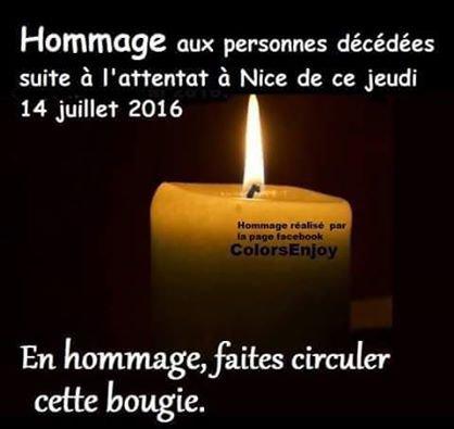 HOMMAGE AUX VICTIMES DE NICE (14 juillet 2016)