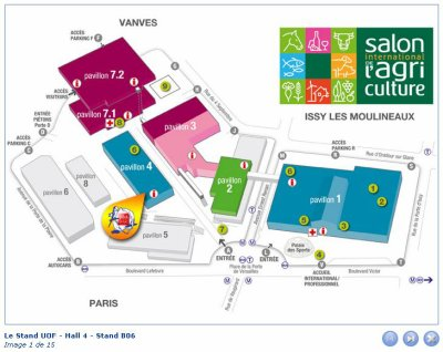 Le salon de l 39 agriculture 2012 r gion r08 rofap for Salon porte de versailles transport