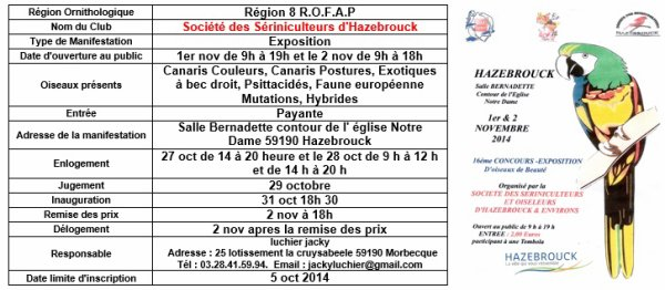 Exposition Société Sériniculteurs Hazebrouck