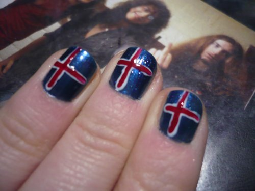 Nail art Islandais