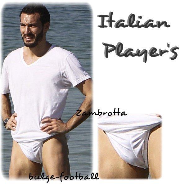 Italian player's bulge