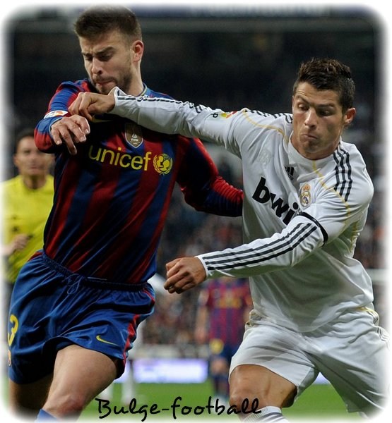 Duel de Bulge : Barcelona G.Piqué vs Real Madrid C.Ronaldo
