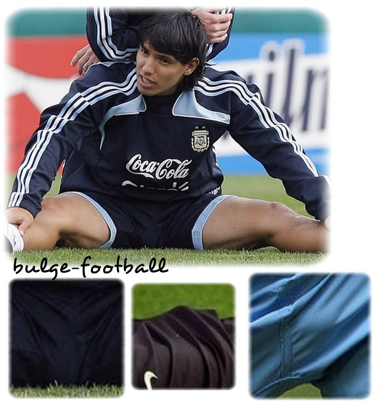 Sergio Kun Aguero big bulge