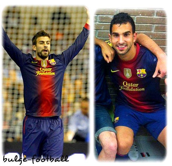 Fc Barcelona kit 2012-2013! que bueno ! Piqué et Montoya big bulge