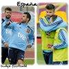 Euro 2012 : España Gerard piqué (Shakira attend un enfant de lui) et Fabregas bulge
