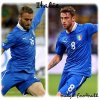 Euro 2012 : Espagne : A.Iniesta/ Portugal : Miguel Veloso/ Italie : C.Marchisio, D.De Rossi bulge