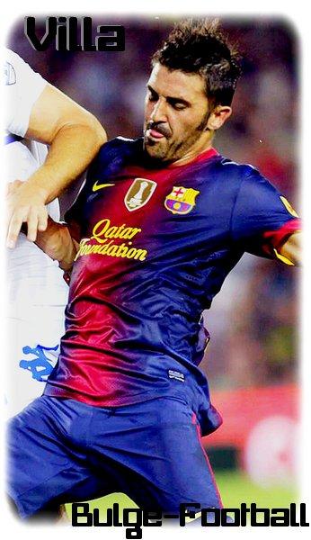 Fc Barcelona Bulge Villa Y Sergio Busquet