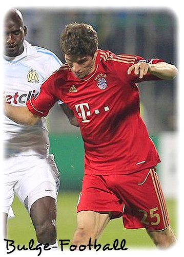 Thomas Muller et Juan Mata bulge