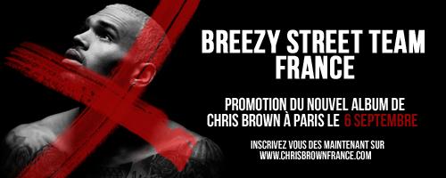 REJOIGNEZ-NOUS À PARIS LE 6 SEPTEMBRE POUR LA PROMOTION DU NOUVEL ALBUM DE CHRIS BROWN