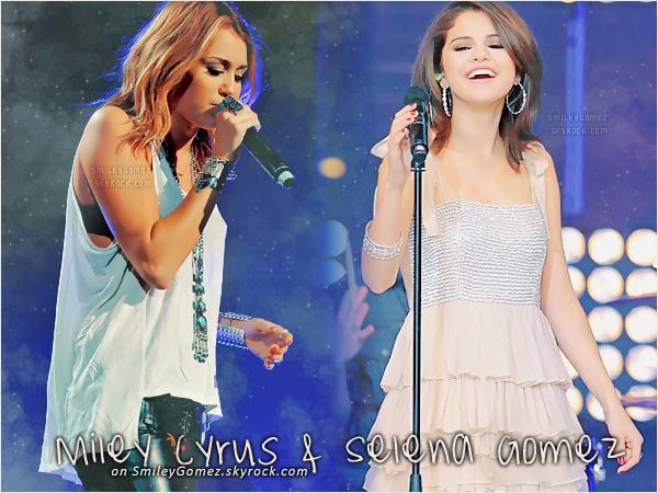_ ___»__ s m i l e y g o m e z . s k y r o c k . c o m _Ton blogfan sur tes stars préférées, Selena Gomez & Miley Cyrus.