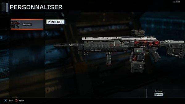 prototype de dssin pour mon arme sur COD : BO3