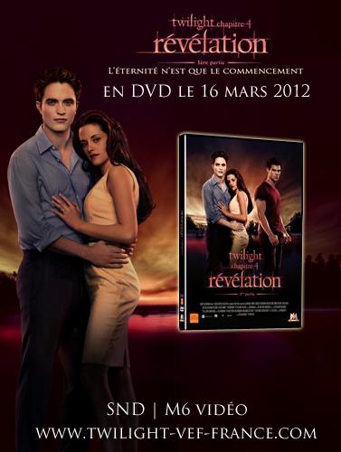 découvrez vite la jaquette du DVD de twilight 4 !