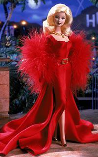 Barbie avec robe rouge
