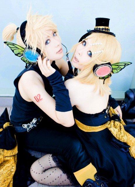 magnifique cosplay de rin & len kagamine (vocaloid)