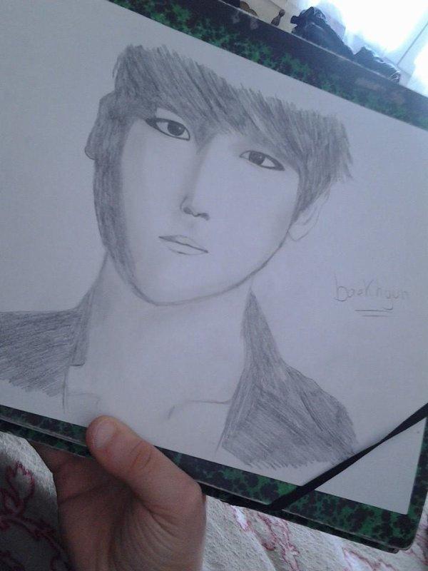 my drawing of Baekhyun !