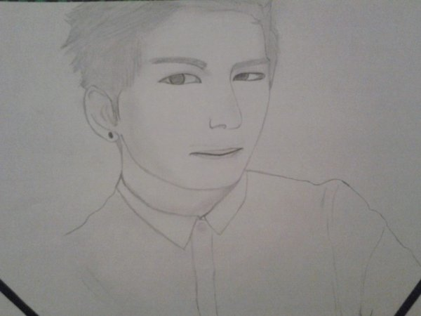 My drawin of TaeHyung (BTS) !