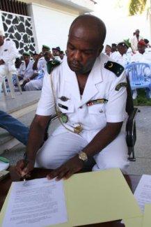 Le Général Salimou Amiri, chef d'Etat Major de l'armée, placé en résidence surveillé à son domicile administratif, après s'être retranché avec une poignée de ses fidèles à l'école des armées