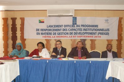 Lancement officiel du PRCGD  « Renforcer les capacités… pour réduire la pauvreté »
