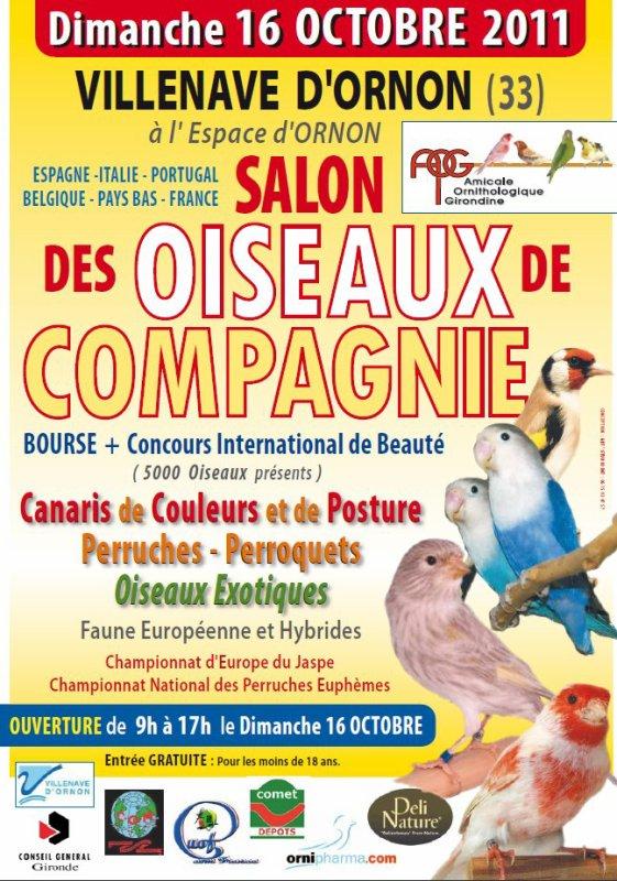 Troisième championnat d'Europe du canari jaspe (Bordeaux: 14 au 16 octobre 2011)