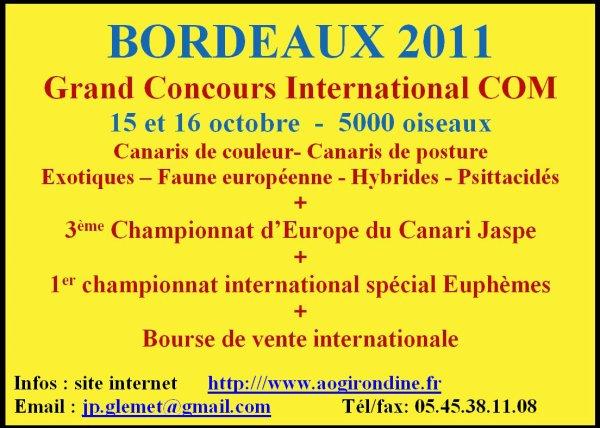 CHAMPIONNAT D'EUROPE 2011 DES JASPES A BORDEAUX