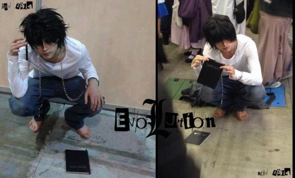 My evolution .. Mon cosplay de Ryuzaki de Death Note