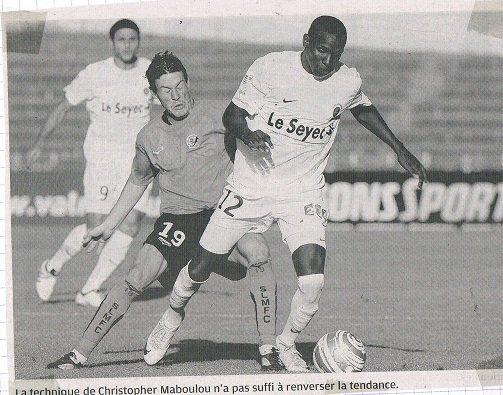 Tristan Lahaye coupe de la ligue 2010/2011(porté à Laval, 30/07/2010, 1er tour)
