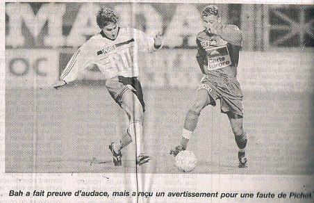 Jérome Brocard, coupe de France 1998/1999, 16ème de finale contre Laval le 20/02/99 (joueur non entré en jeu)