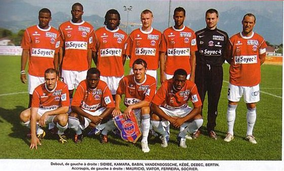 match amical, 2005/2006 (porté contre Marseille le 09/07/2005)