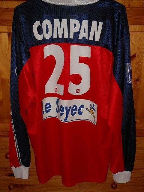 Lilian Compan 2001/2002 porté contre Saint-Etienne le 08/12/2001