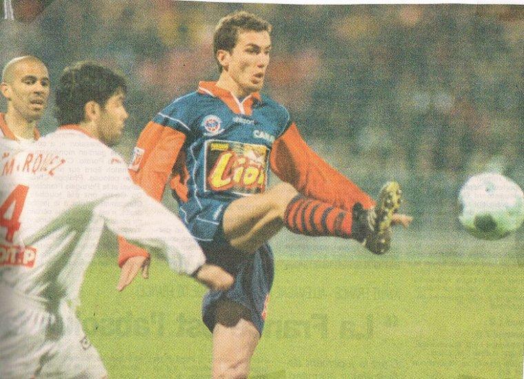 Cédric Daury, coupe de la ligue 2000/2001 (porté contre Monaco le 24/02/2001, quart de finale)