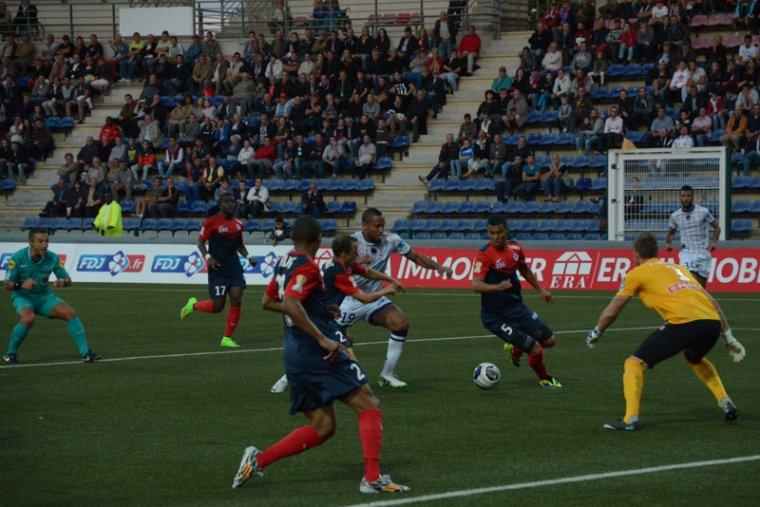Denys Bain, coupe de la ligue 2014/2015, 2ème tour, porté contre Clermont le 26/08/2014
