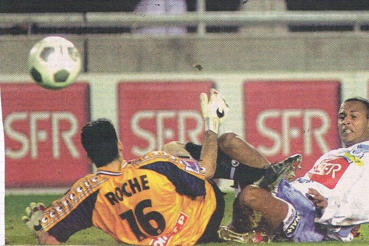 Grégory Malicki, 2000/2001, porté en coupe de la ligue à Martigues, 1er tour le 01/11/2000
